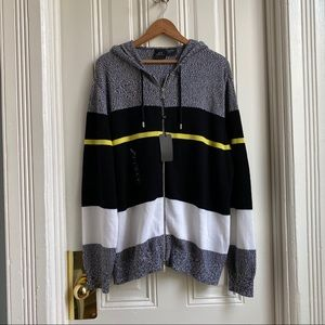 Armani Exchange Multi Stripe Cotton Sweater Hoodie